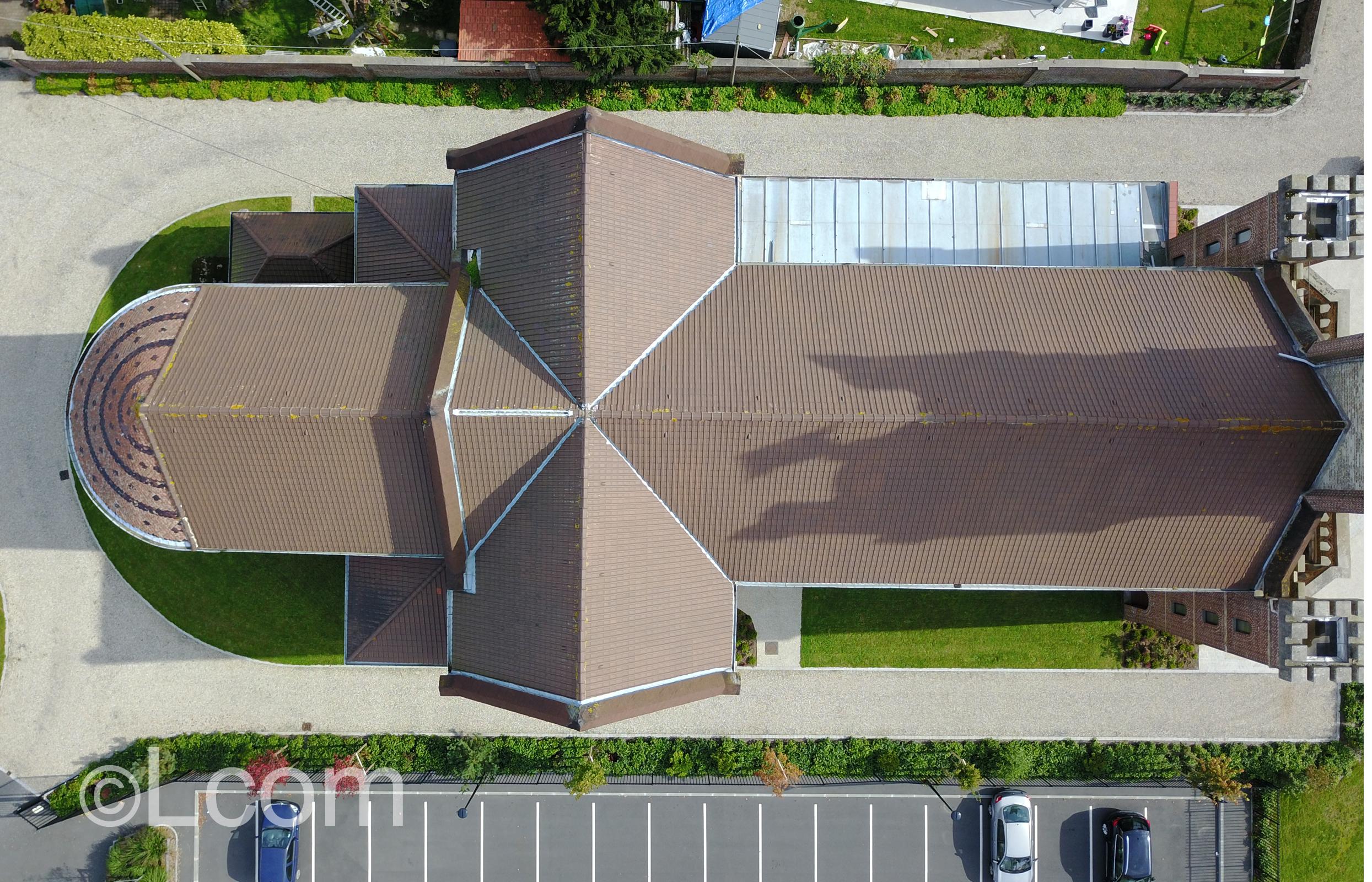 """alt = """" captations sur le toit d'une église au Havre - Lcom """""""