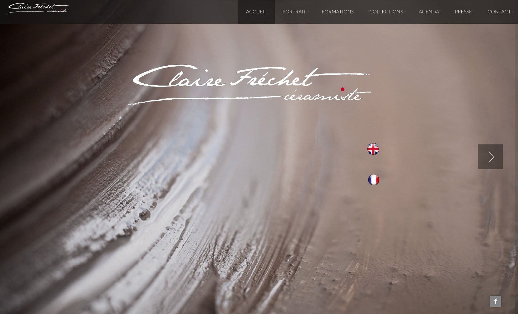 """alt = """" site internet - Claire Frechet - page """"home"""" - Lcom """""""