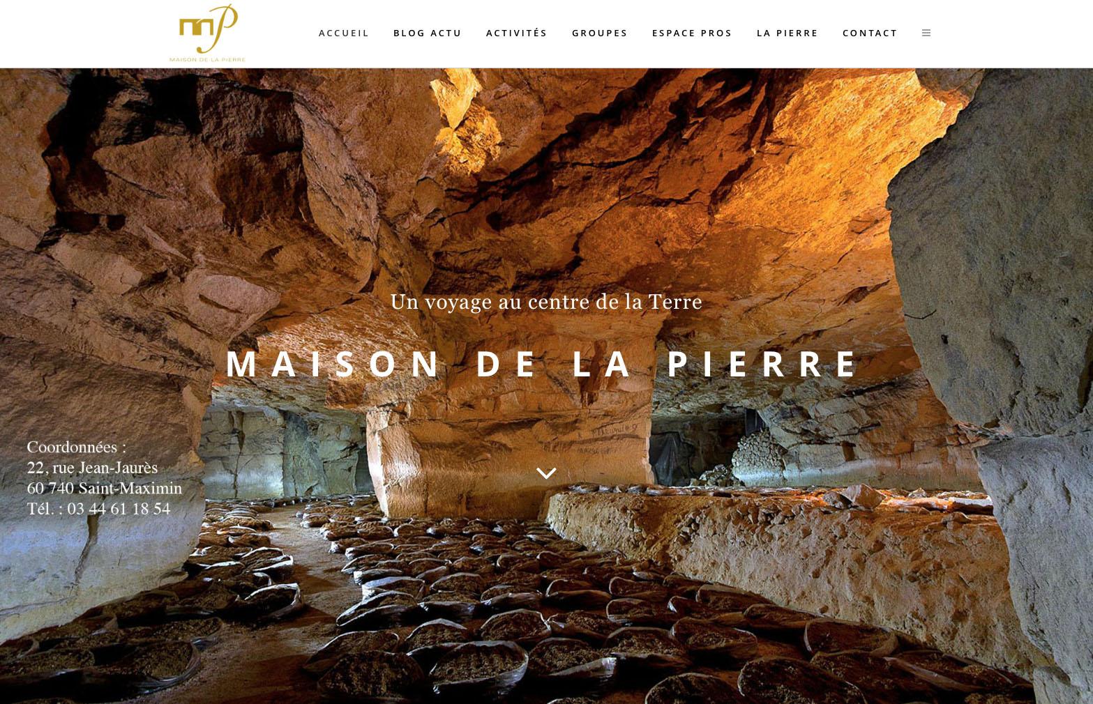 """alt = """" site internet - Maison de la Pierre - page """"home"""" - Lcom """""""