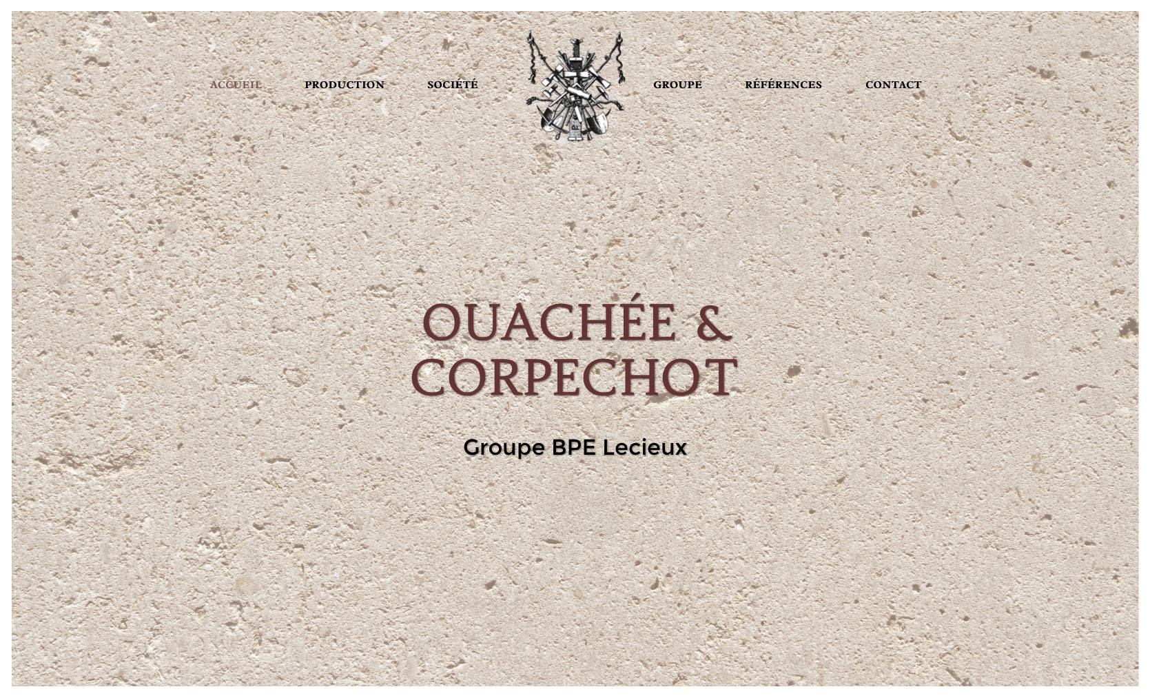 "alt = "" site internet - Ouachée & Corpechot - page ""home"" - Lcom """